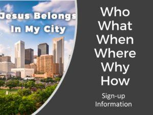 jesus belongs in my city
